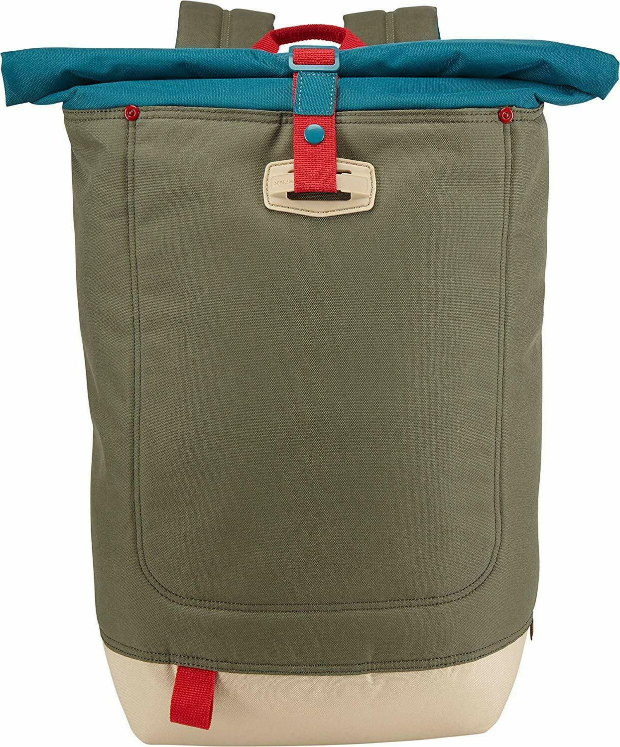 larimer rolltop backpack with slip pocket