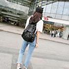 Women Girl Leather Backpack Travel Handbag Rucksack Shoulder