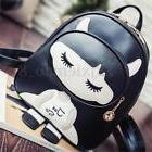 Women Leather Girl Travel Backpack Shoulder Rucksack Handbag