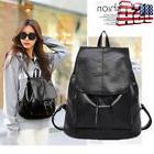 Women Girl Leather Travel Satchel Handbag Shoulder Backpack