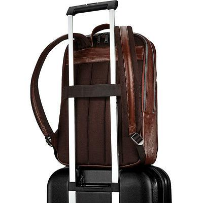 Samsonite Leather Slim Backpack Business