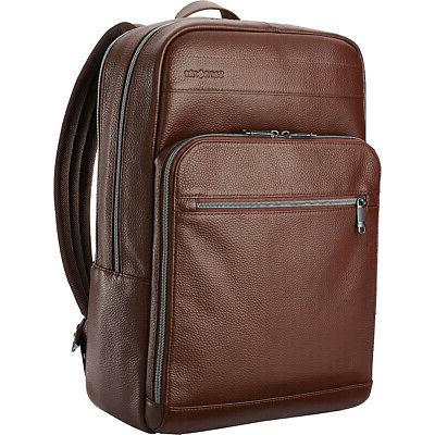 leather slim laptop backpack 2 colors business