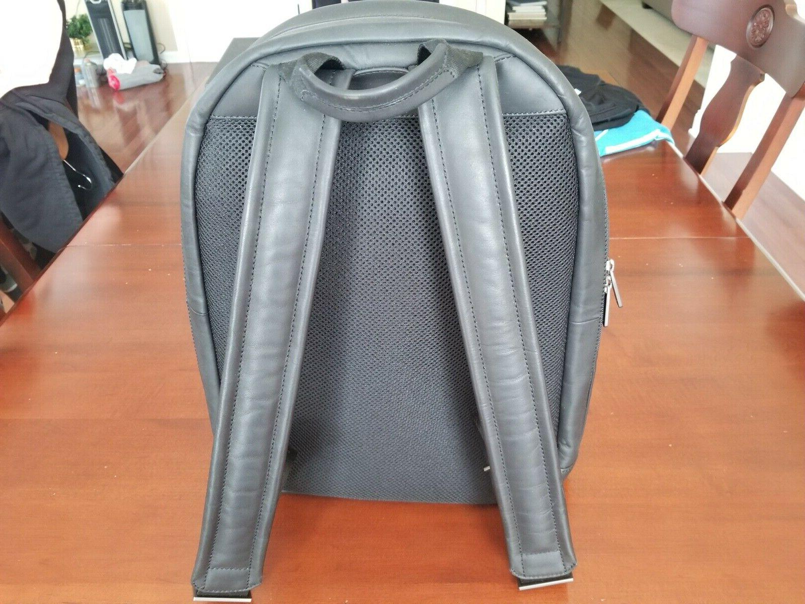 """KNOMO LONDON """"Albion' Grain Leather Backpack 15"""" New No Tags"""