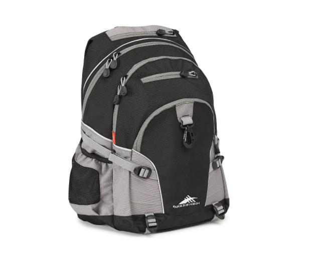 loop backpack luggage traveling black unisex daypack