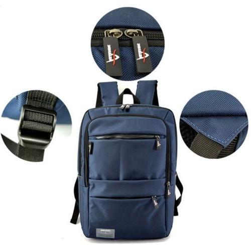 Man Nylon Laptop Backpack Water Resistant Rucksack Travel Sa