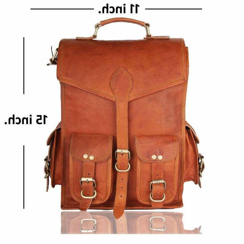 Men Leather Backpack Laptop Messenger Bag Bag