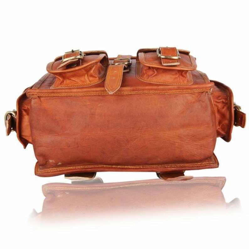 Men & Leather Laptop Messenger Bag