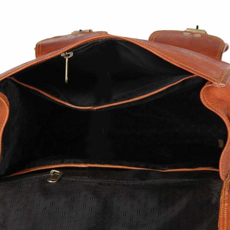 Men Leather Backpack & Messenger Bag