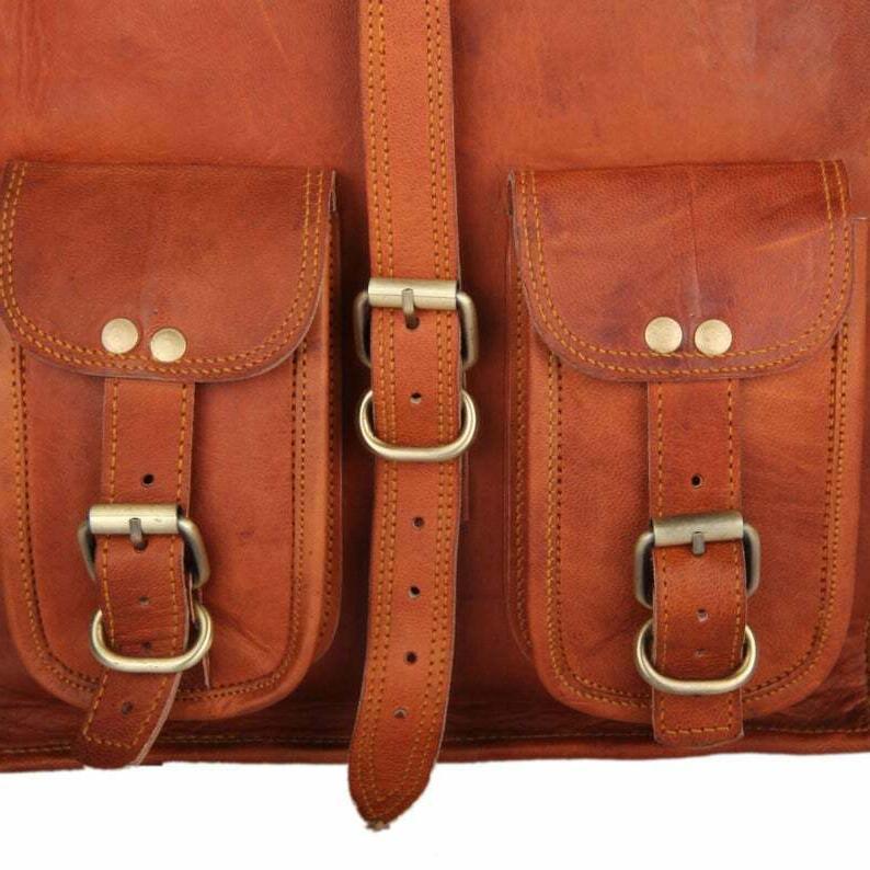 Men & Leather Messenger Bag
