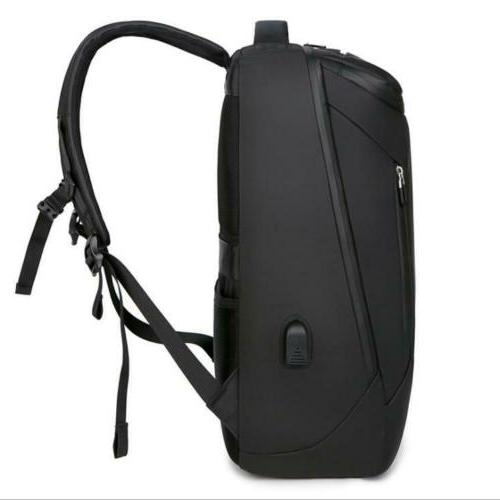 Men Laptop USB School Computer Bag