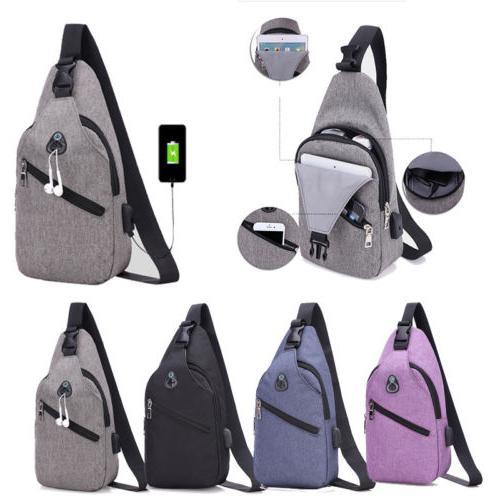 Mens Theft Travel Laptop Rucksack Bag USB Port