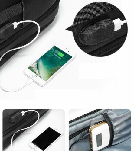 Men Extra Travel USB Inch Bag