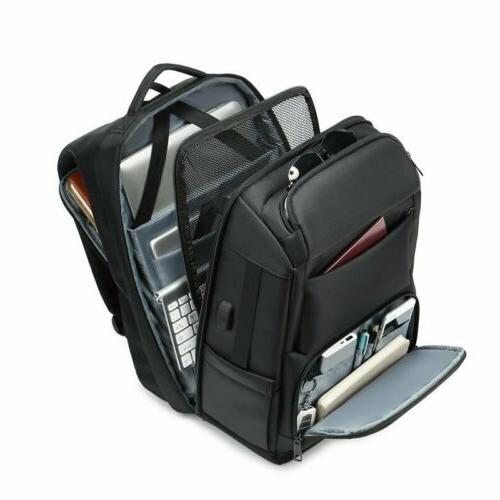 Men USB Charging Backpack Inch College Bag