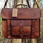 Men's Genuine Vintage Leather Messenger Laptop Briefcase Sat