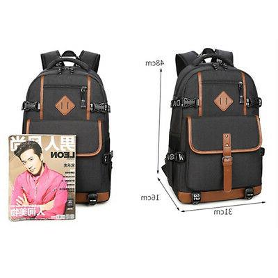 Men Large Waterproof Laptop Shoulder Handbag Rucksack
