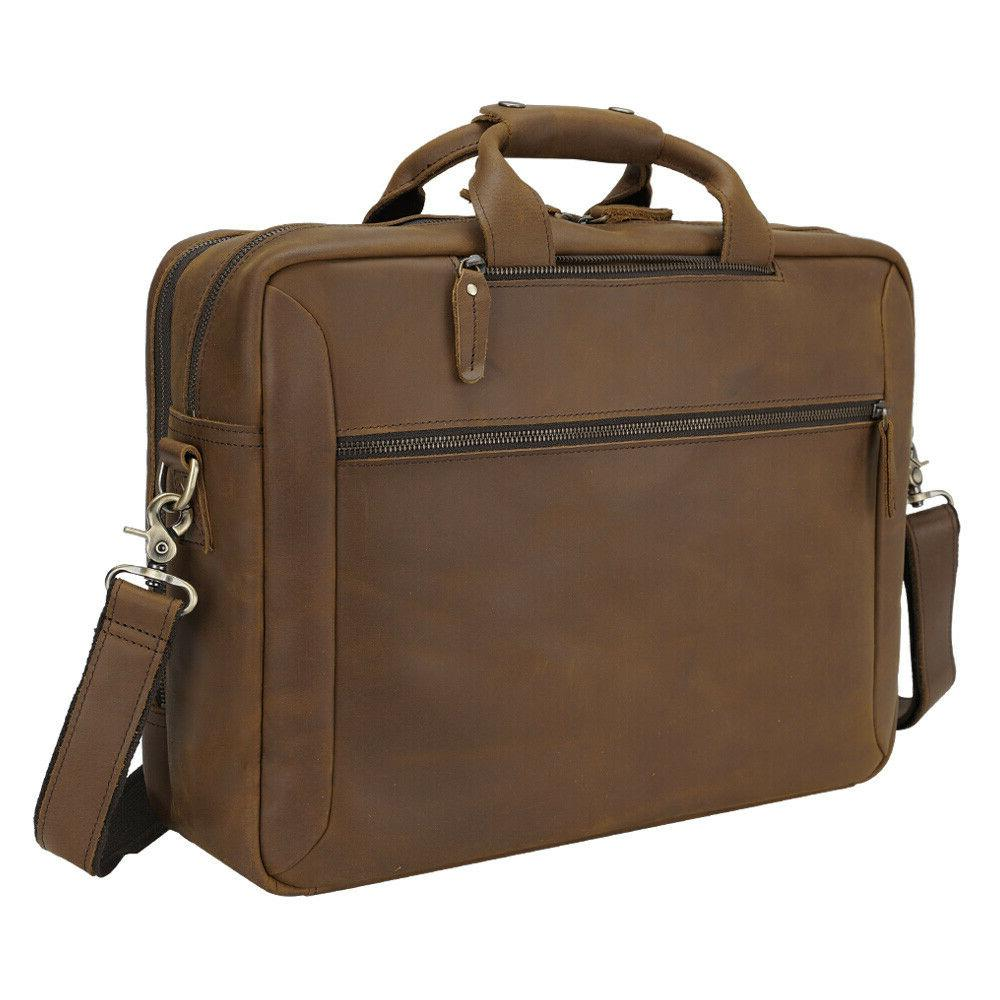"Men 17"" Laptop Briefcase Bag Shoulder Travel"