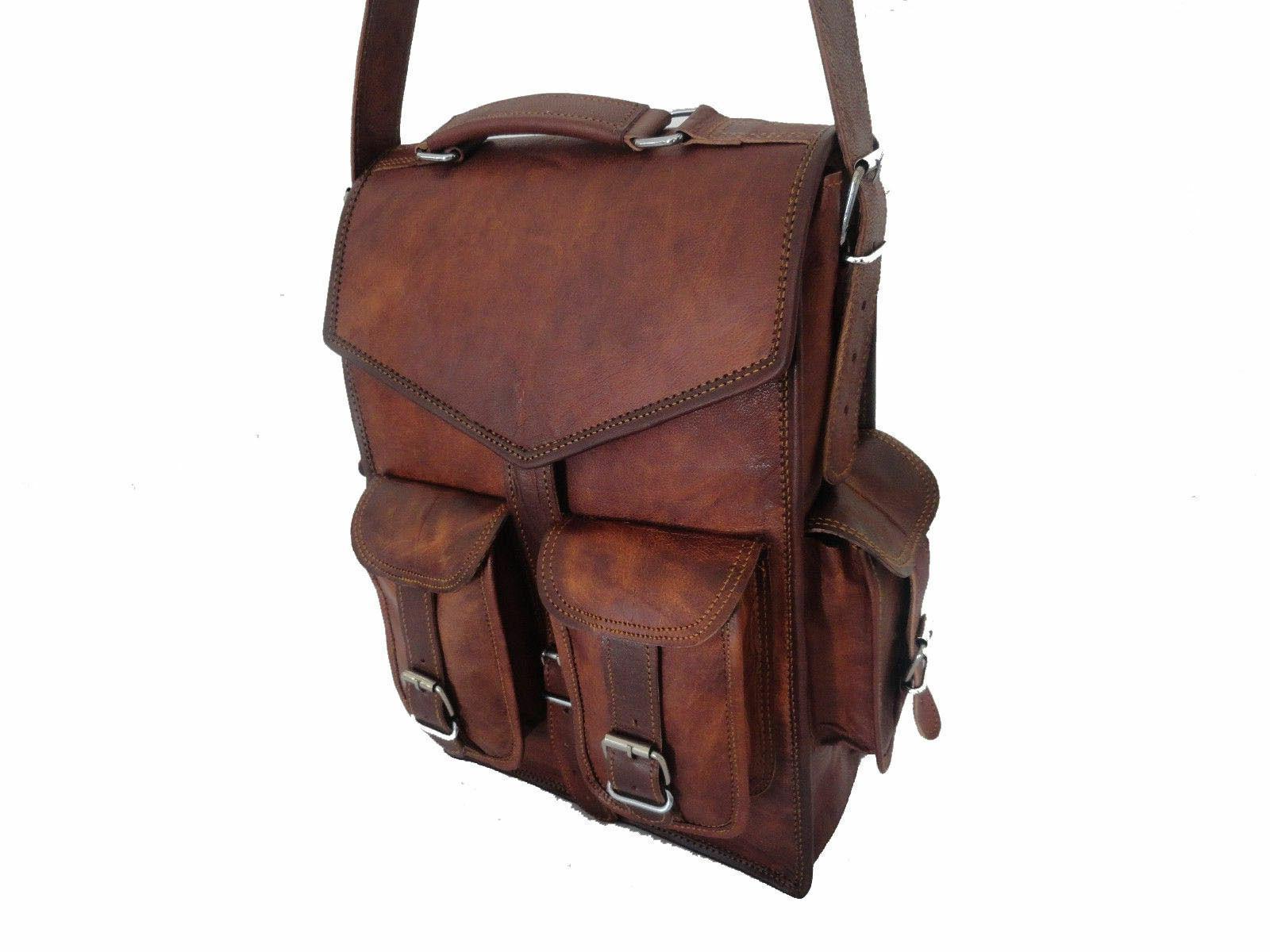 Men Leather Shoulder Sling Bag