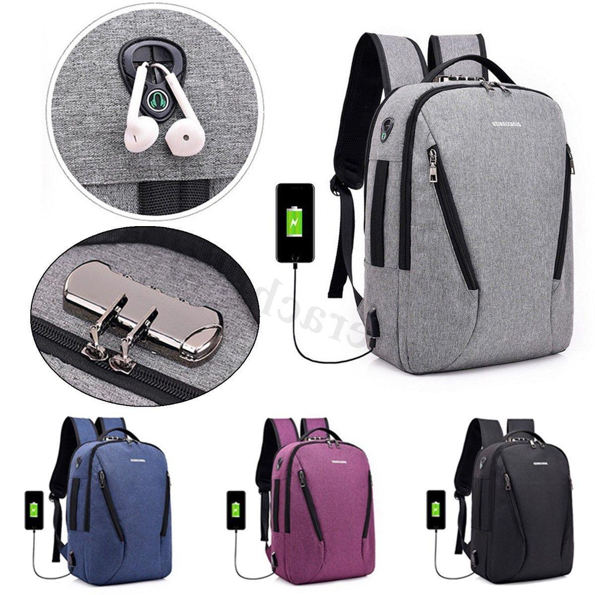 Men Leather Camping School Laptop Bag
