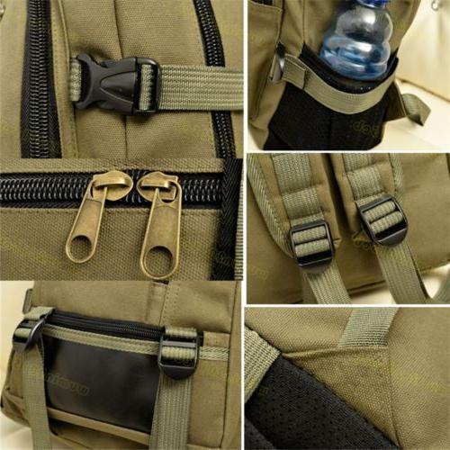 Men Retro Rucksack Sport Schoolbag Laptop Hiking