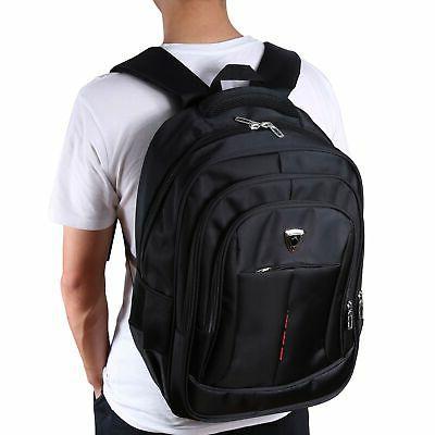 Mens 17 inch Laptop Backpack Outdoor Travel Sport School Com