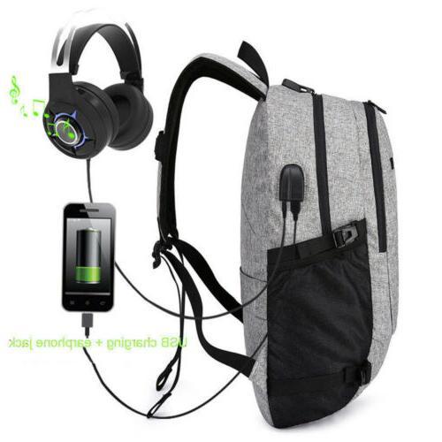 Men's Laptop Backpack USB Charging Work Bag