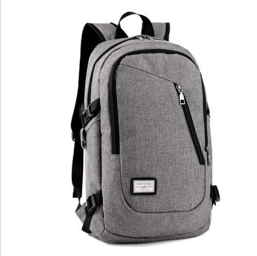 Men's Women's Laptop Backpack USB Work Travel