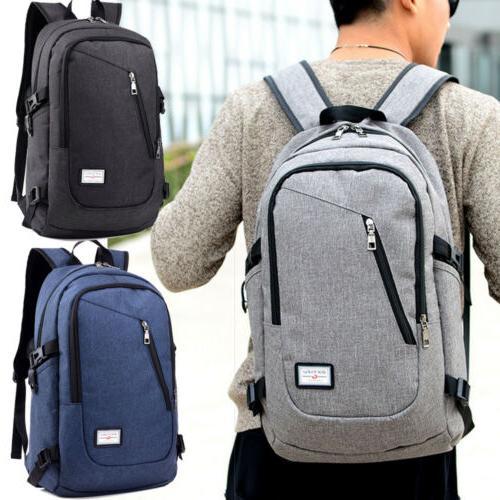 Laptop Backpack USB Work Travel Bag