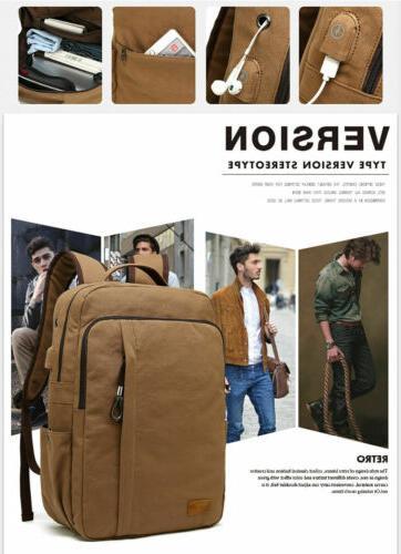 KAUKKO Men's Brand Backpack Laptop Travel Camping