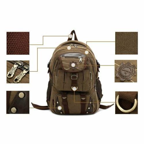 KAUKKO Men's Brand Backpack Laptop School Travel Bag