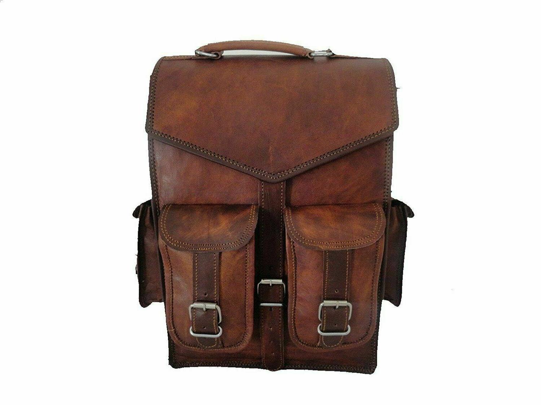 Handmade Leather Laptop Messenger Computer Bag / 11x15 Inche