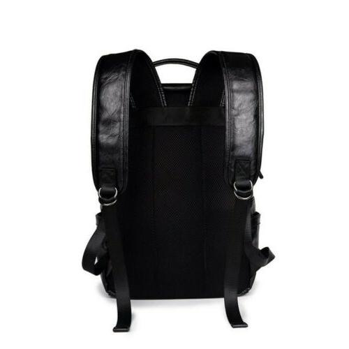 Men's Leather Backpack Bag Weekender School