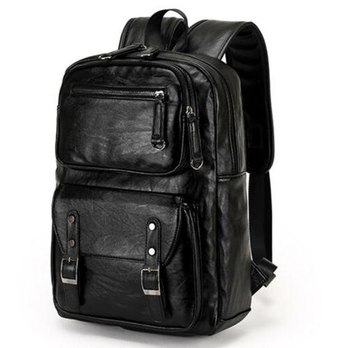 Men's Leather Laptop Weekender Travel Bag