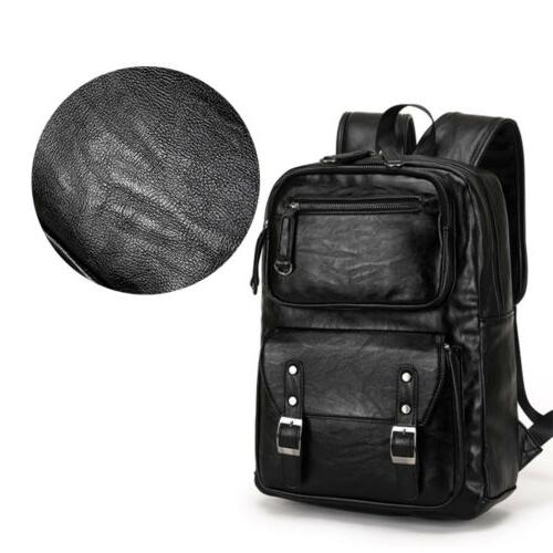 Men's Leather Weekender Travel School Bags