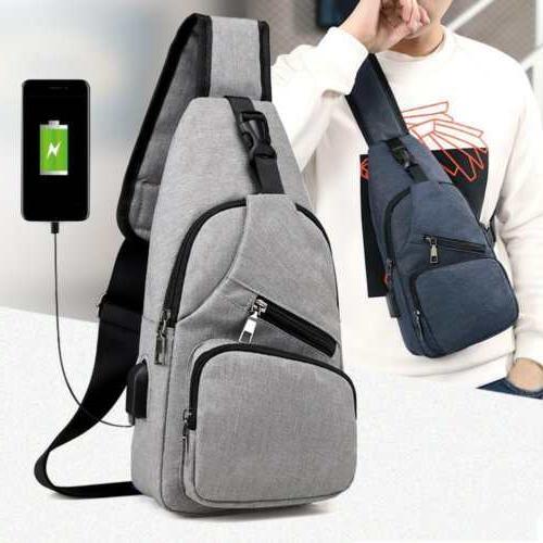 men s shoulder bag sling chest pack