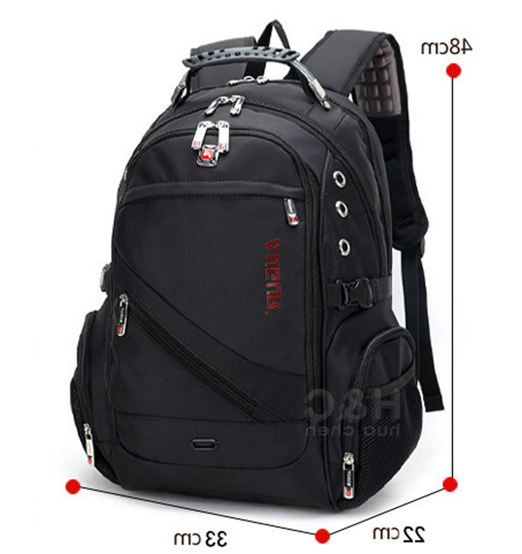 "Men's Travel Rucksack 15.6"" Laptop Backpack Swiss School Bag"