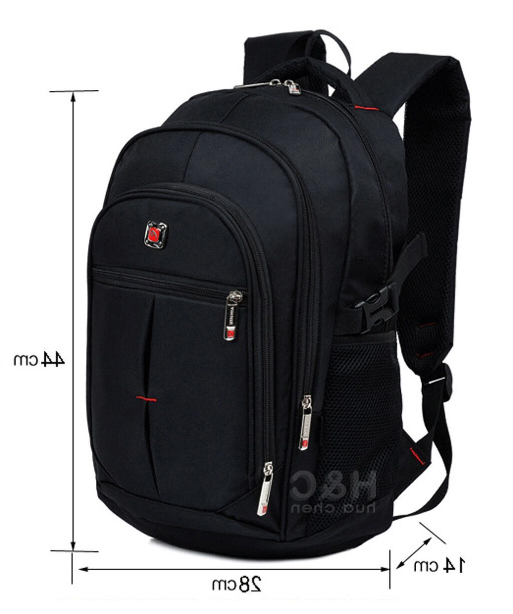 Men's Rucksack Laptop Swiss Hiking Backpack Bag