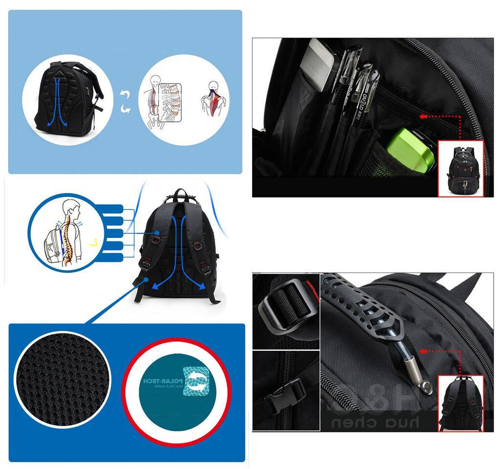 Men's Travel Backpack Shoulder Bag Swiss Hiking