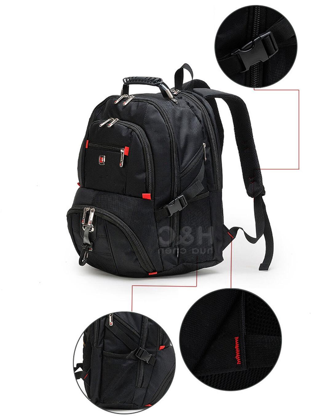 "Men's 15"" Backpack Shoulder Swiss Hiking School"