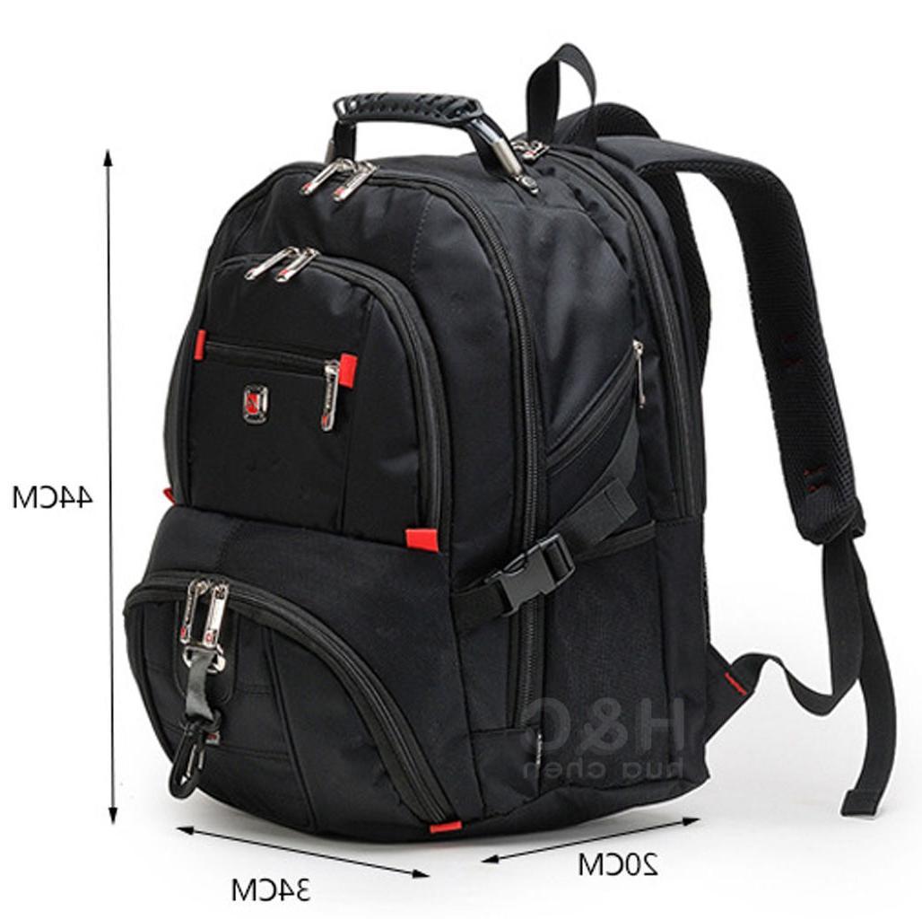 """Men's Travel 15"""" Laptop Backpack Bag Swiss"""