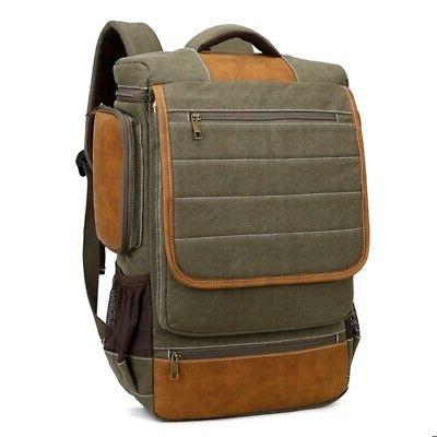 Men Rucksack Bag School Satchel