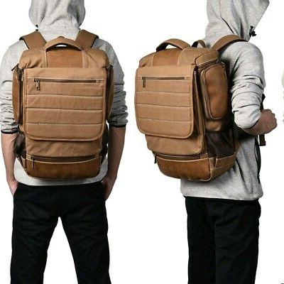 Men Canvas Bag Laptop Camping School