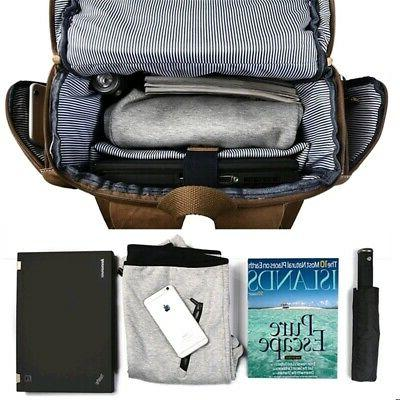 Men Canvas Rucksack Bag Laptop Travel School Satchel Outdoor