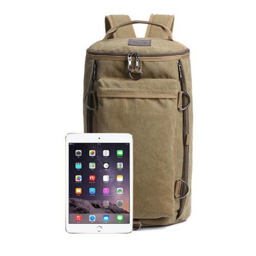 Men's Vintage Canvas Backpack Rucksack Shoulder Travel Laptop