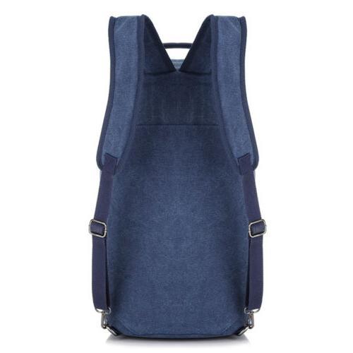 Men's Canvas Backpack Rucksack Camping Laptop Bag 35L