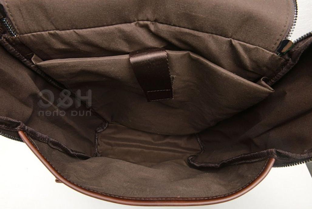 Men's Vintage PU Leather Shoulder Laptop Bag