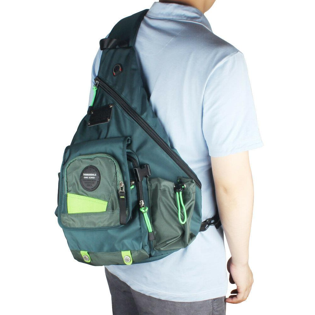 Men's Women's Large Nylon Sling Backpack Travel 14
