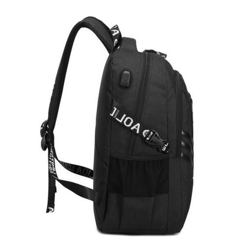 "Men USB Backpack 17"" Travel School"