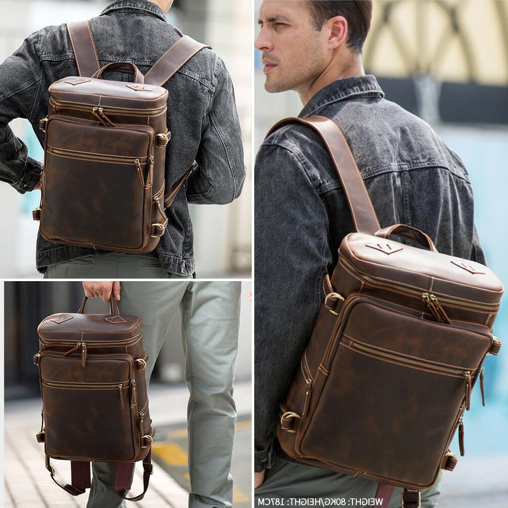 """Men Vintage 15"""" Laptop Hiking Bag"""