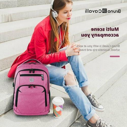 Men Backpack USB Travel Waterproof Bag