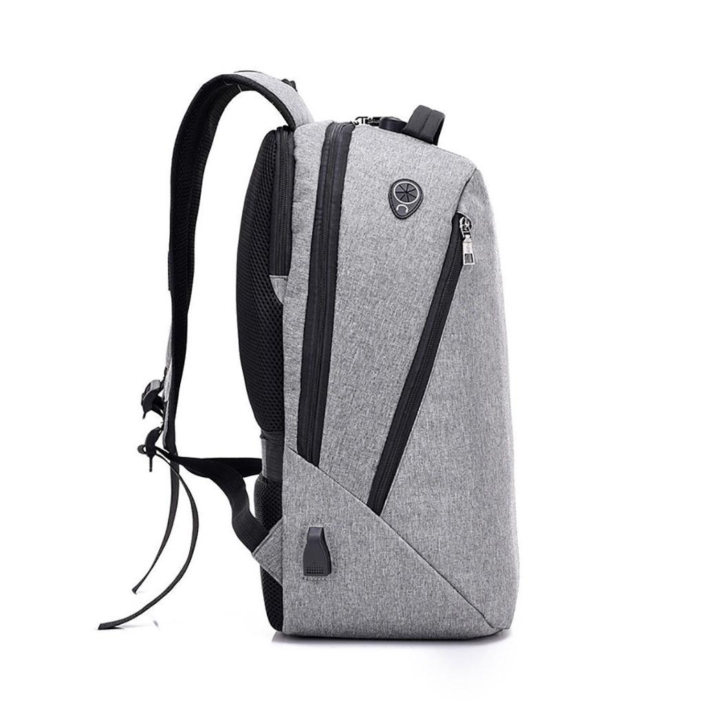 Men Anti-Theft Travel Backpack Port Bookbag School Bag